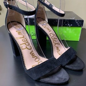 Sam Edelman strappy suede heels